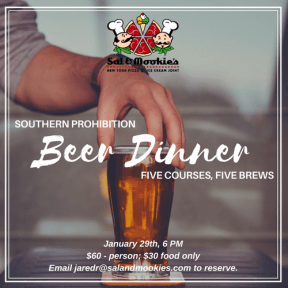 Southern Prohibition Beer Dinner