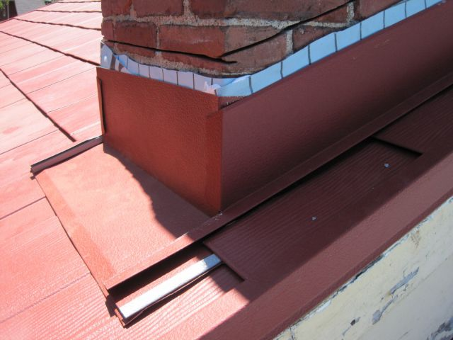 Chimney Metal Flashing Installation