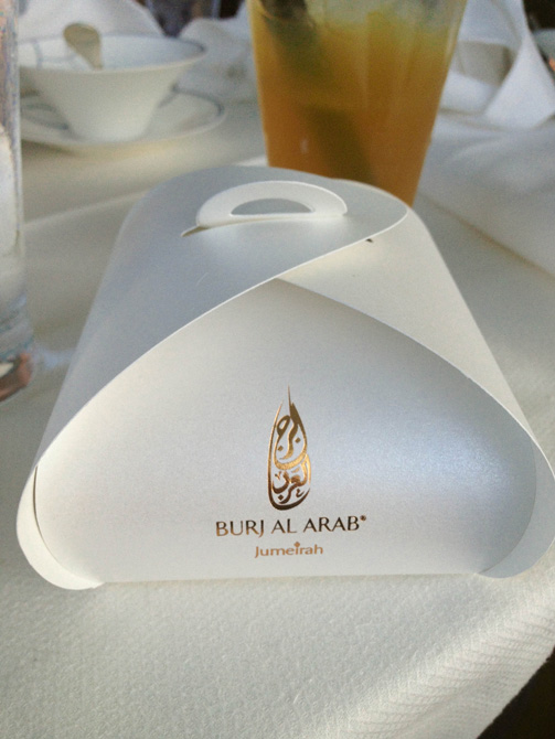 Burj Al arab goodies