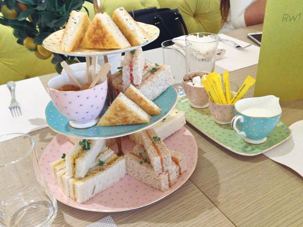 British Afternoon Tea at Rhodes W1