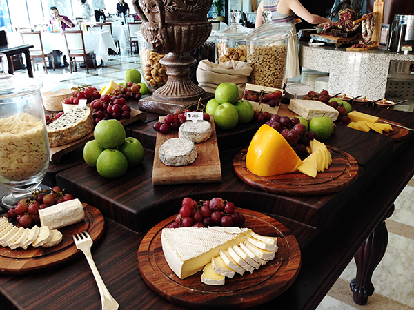 Cheese selection Dubai Friday Brunch