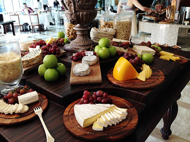 Cheese selection Dubai Friday Brunch