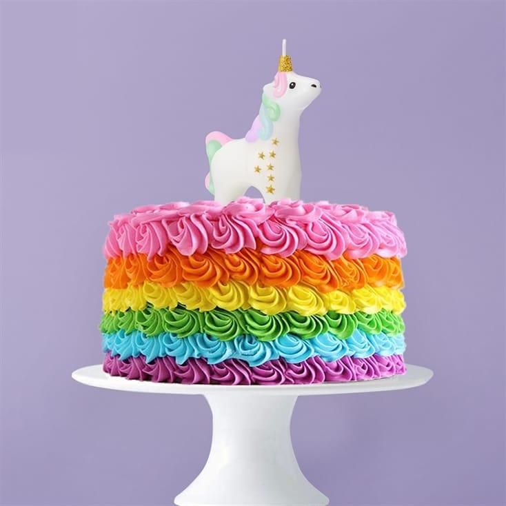 unicorn birthday candle