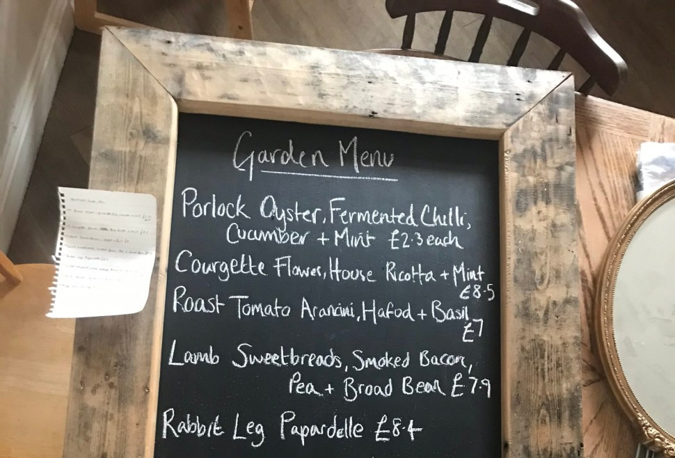 The Heathcock Cardiff Menu