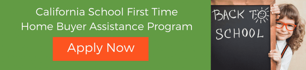 California School first time home buyer assistance program