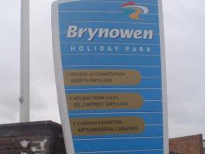 Park sign at Brynowen - Brynowen Holiday Park