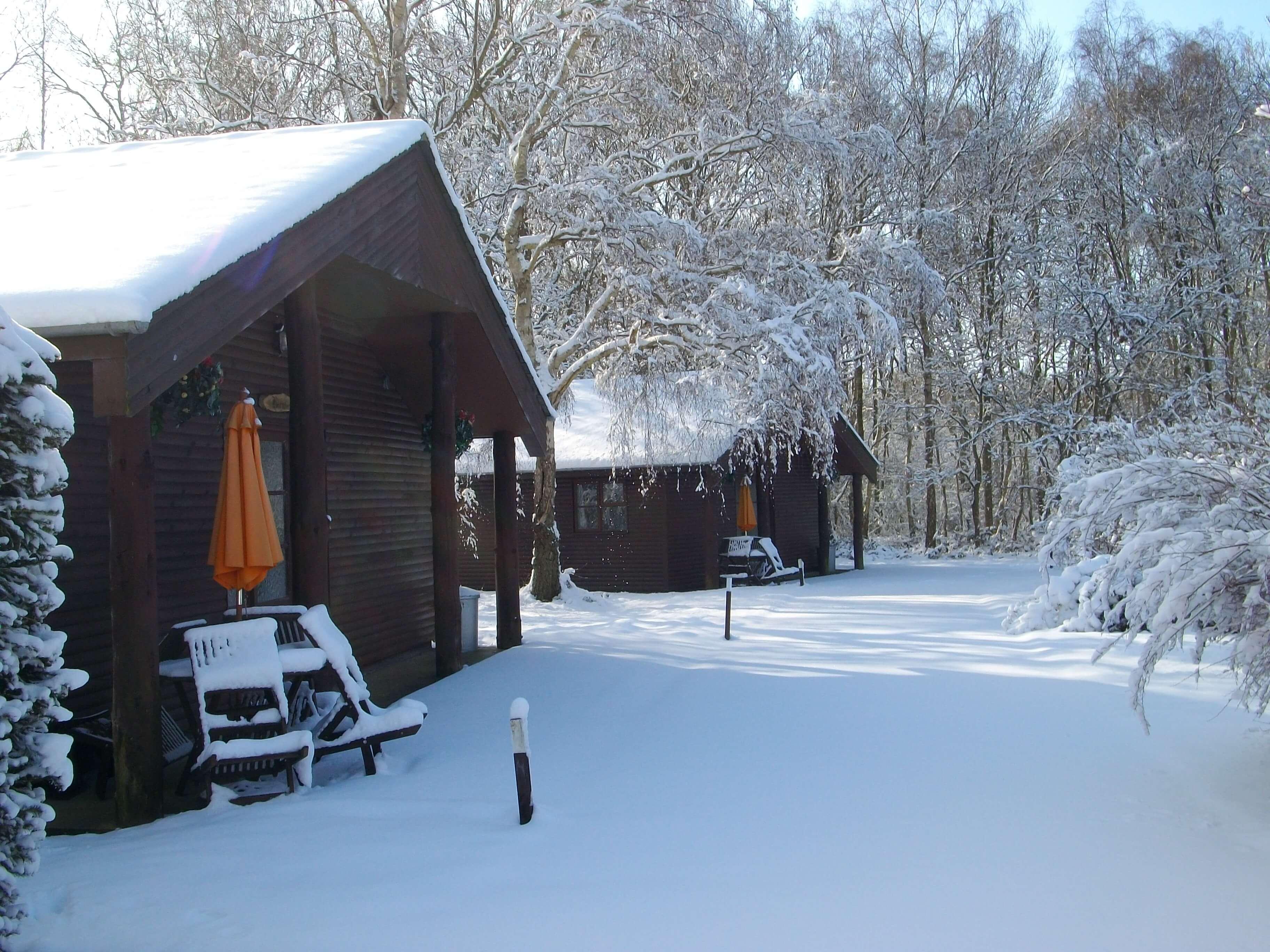 Eversleigh Woodland Lodges Snow