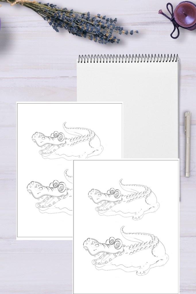 Crocodile coloring page