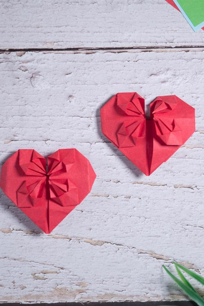 Origami Blossom Heart