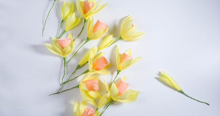 How to make paper daffodils