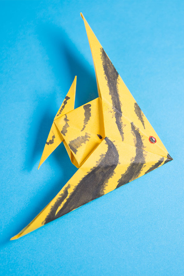 origami fish step by step