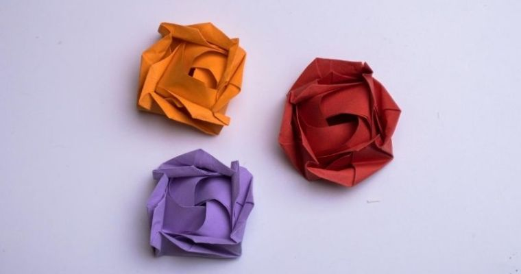 How to make an Easy Origami Rose