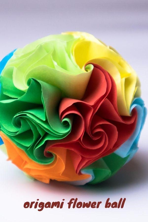 Making an Beautiful origami flower ball