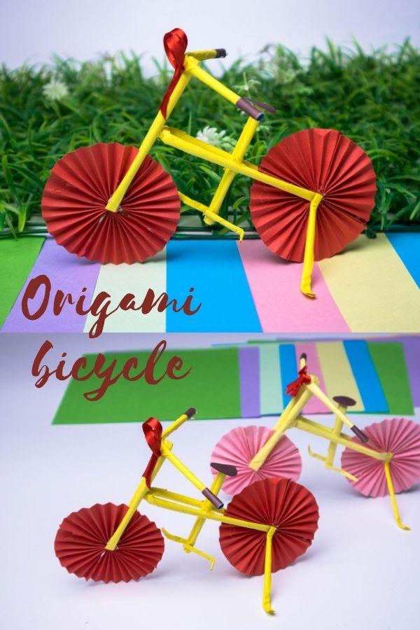 How to make origami bike