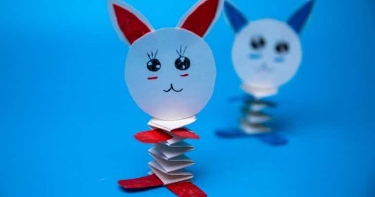 How do you make a paper rabbit step by step?