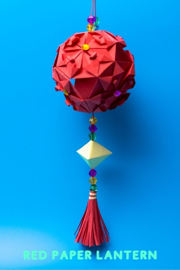 How to make red paper lantern