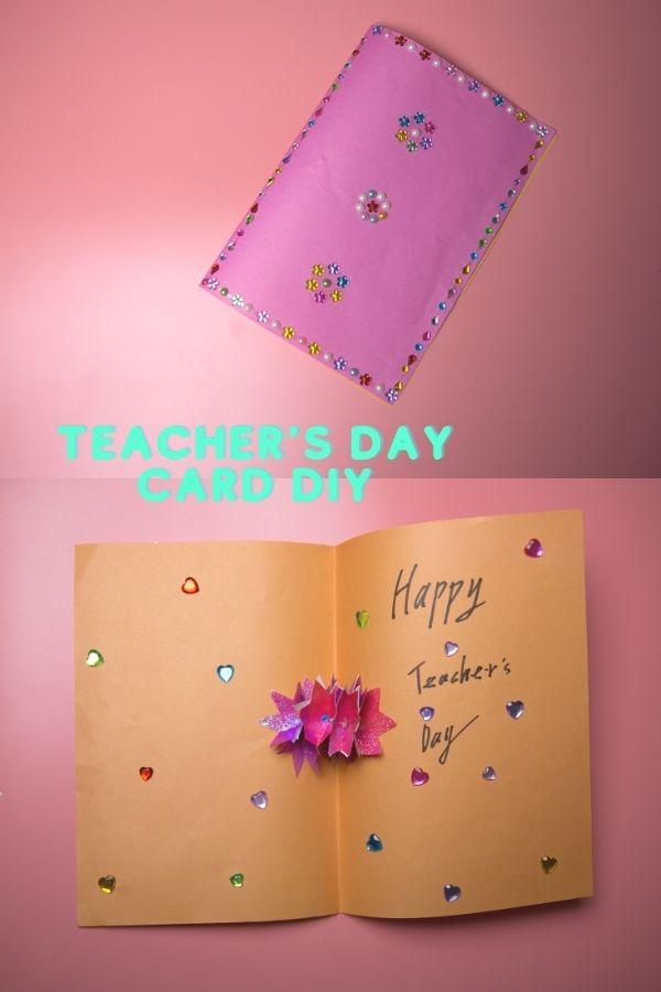 exquisite teacher's day card DIY