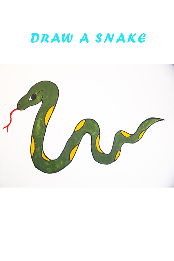 how to draw a snake for kids