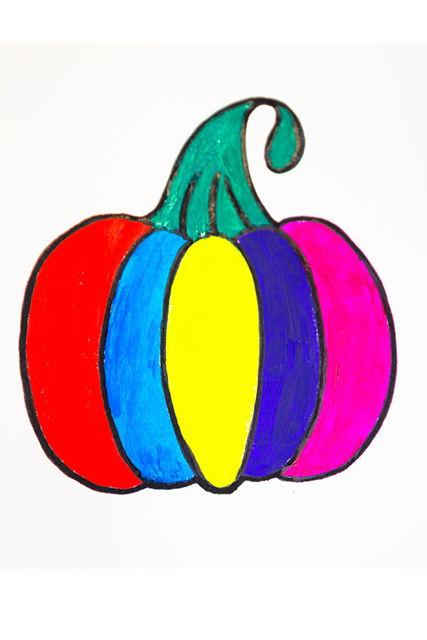 how to draw pumpkin easy