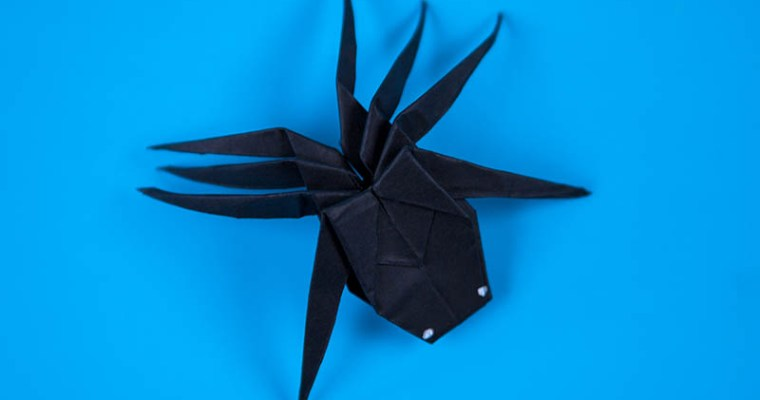 Easy Paper Spider DIY