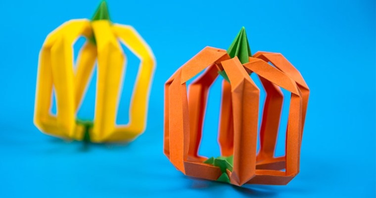 origami pumpkin easy