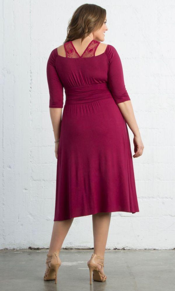 Chloe Crochet Dress, Passionfruit back