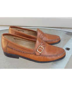 Bruno Magli Nevada Brown Leather Loafers