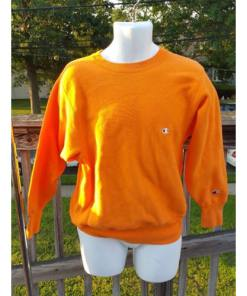 CHAMPION reverse weave sweatshirt Medium Bright Orange 80's 90's Made USA