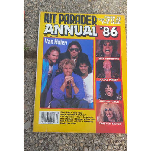 Hit Parader Magazine lot 4.1980's. Poison, Halen,Lee, Ozzy.Van