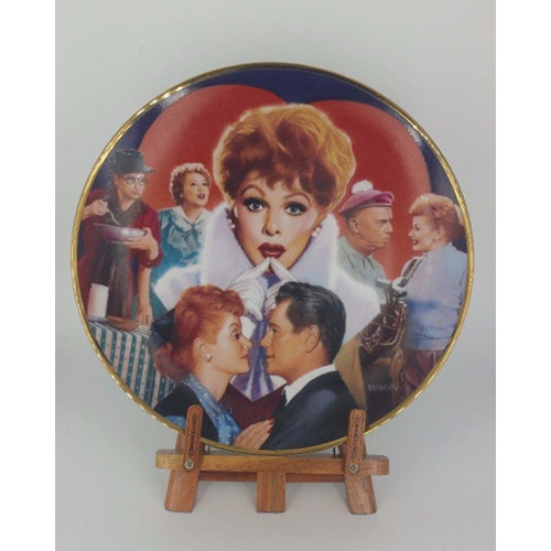 I Love Lucy Plate - Morgan Weistling #1195A Made in USA Sticker