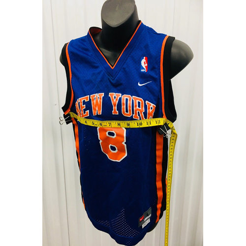 Latrell Sprewell NIKE New York Knicks SEWN NBA THROWBACK JERSEY YOUTH LARGE measured 2