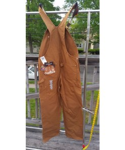 Men's Carhartt Carpenter Zip Overall Wheat 100% Cotton 34x32 back
