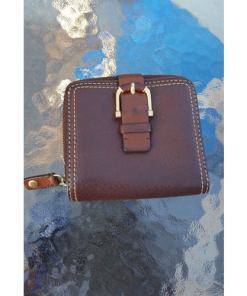 Michael Kors Brown Leather Wallet withSnap-on Buckle. Bill -Cardholder & Id Slot