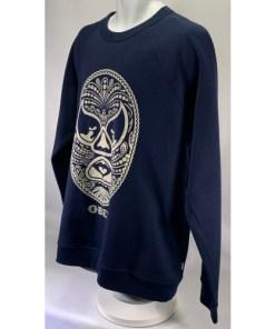 Obey OG Face Mythological Silk Screen Long Sleeve Sweatshirt
