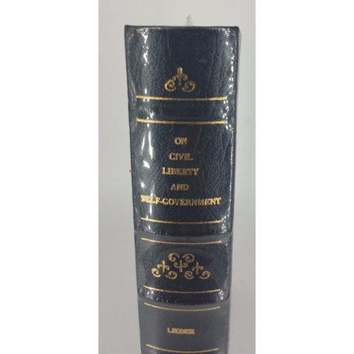 On Civil Liberty and Self-Government by Francis Lieber Fine Binding Leather