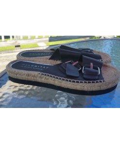 Palomitas Paloma Barceló Espadrille Flat Sandals Size 41=10-10.5 side