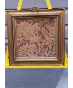 SUNGOTT ART STUDIOS FRAMED TAPESTRY ELEGANT VICTORIAN DECORsingle