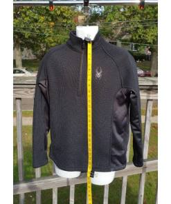 Spyder Outbound Midweight Core Black & Gray Men's Half Zip Sweater M
