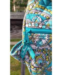 Vera Bradley Crossbody Quilted Shoulder Bag Peacock Pattern~Retired tag