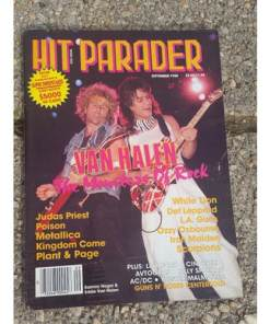 Vintage Hit Parader Magazine lot 4. 1980's. Poison, Halen, Lee, Ozzy..more)
