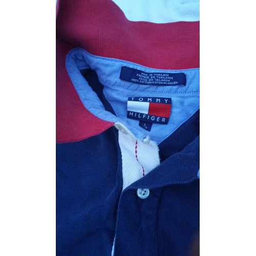 Vintage Tommy Hilfiger Short Sleeve Polo Size Large front sz