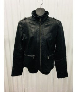 WILSON LEATHER WOMEN BIKER JACKET SIZE LARGE RN69426
