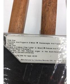 Best Of Bach Cassette Tape E Power Biggs Genius Masterworks 1973 Library music list 07464318404