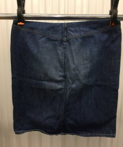 Diesel Industry Blue Jean Denim Pencil Skirt Womens Size 31 made in Italy back
