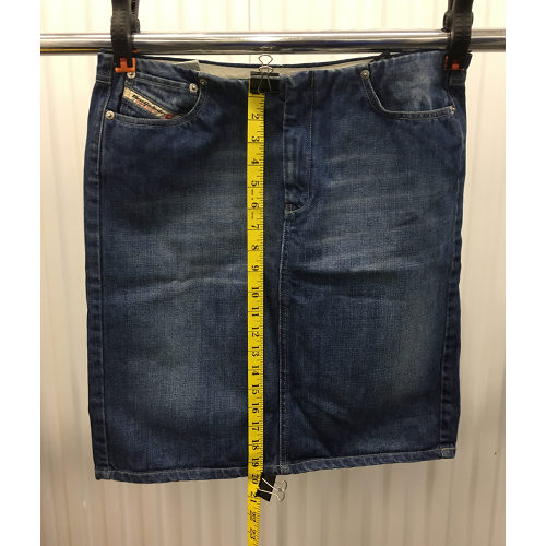 Diesel Industry Blue Jean Denim Pencil Skirt Womens Size 31 made in Italy length
