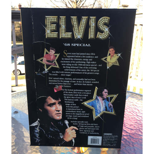 Elvis Presley '68 Special Doll #9146 Never Removed from Box 1913 by Hasbro 12in back.