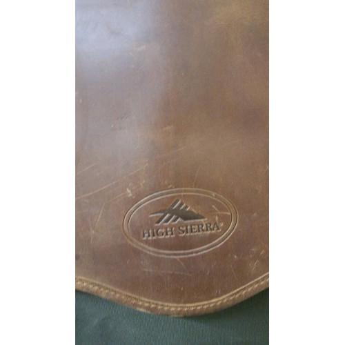 High Sierra Leather & Canvas Garment Bag . Leather Canvas. logo
