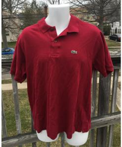 Lacoste Polo Shirt Made in France Size 6 Red