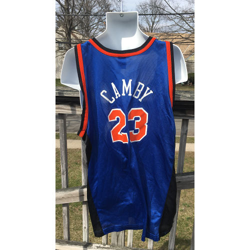 New York Knicks Marcus Camby NBA Jersey 2xl Champion Vintage 52 Size 2xl back