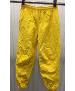 Polo Sport Track Pants Mens S Joggers Yellow 90s Ralph Lauren Zip Bottom
